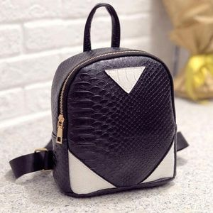 Handbags - Two-Toned Mini Backpack